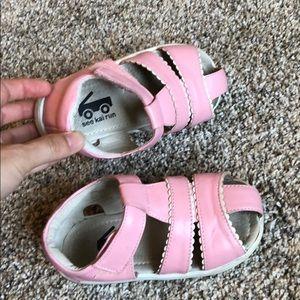 See Kari run sandals